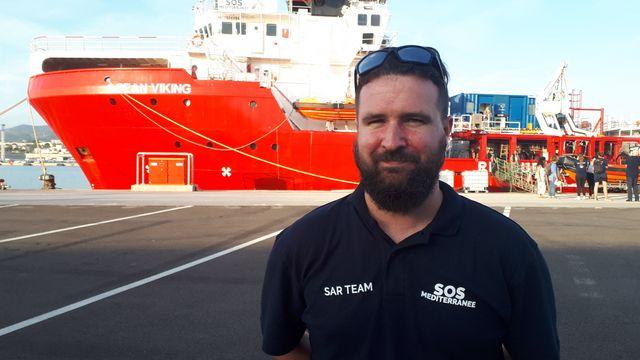 Nick, coordinateur des opérations de recherche et de sauvetage à bord de l'Ocean Viking