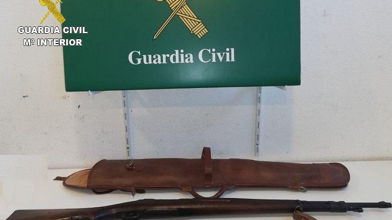Ce fusil de guerre a été saisi par la Guardia Civil à La Jonquère mercredi