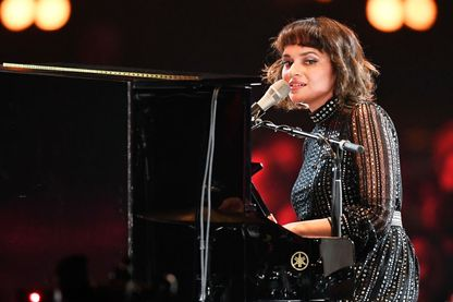 Norah Jones en février 2019 au Los Angeles Convention center