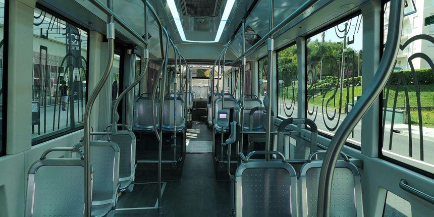 Le Tram'bus vu de l'interieur