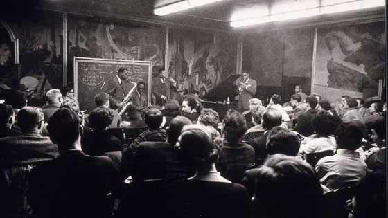 Art Blakey and The Jazz Messengers en concert au New School à New York, en janvier 1956.