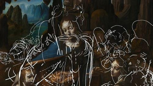 Les dessins cachés de Léonard de Vinci