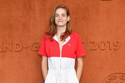 L'actrice Noémie Schmidt à Roland-Garros le 5 juin 2019 à Paris.