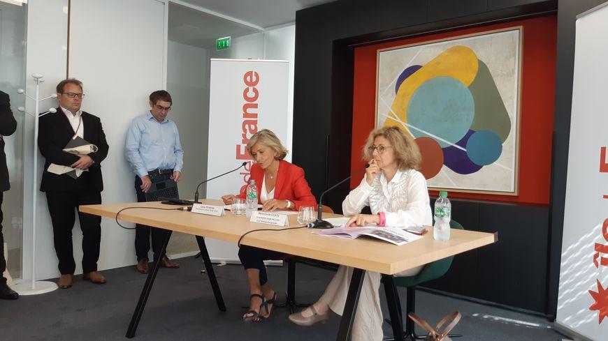 Valérie Pécresse, présidente de la région Ile-de-France et Marie-Carole Ciuntu, vice-présidente chargée des lycées