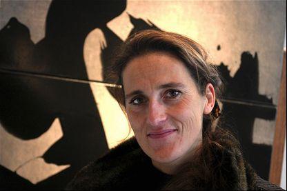 """Fabienne Verdier en 2003, lors de la sortie de son livre """"Passager du silence"""" chez Albin Michel"""