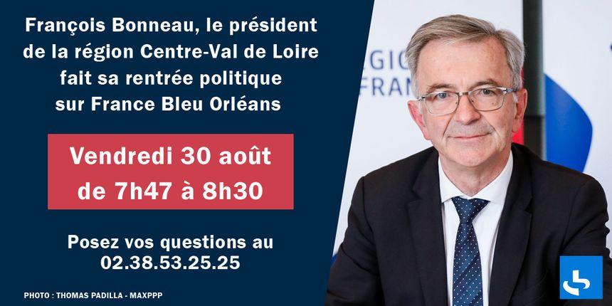 François Bonneau sera sur France Bleu Orléans vendredi 30 août