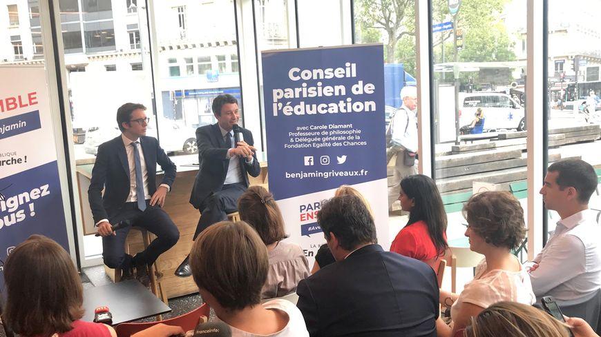 Benjamin Griveaux présentait ce lundi son programme autour de l'éducation à Paris.
