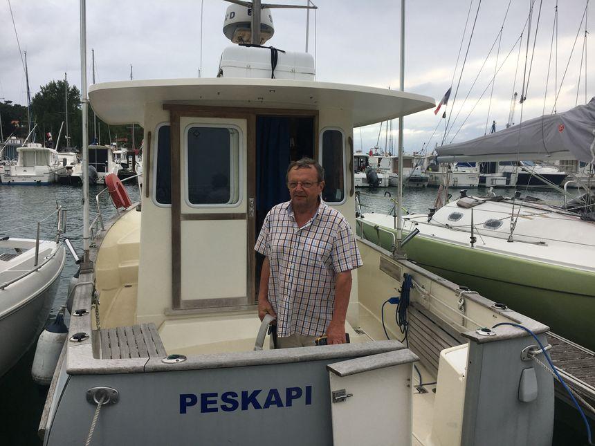 Pierre Stéphan, président de l'association des pêcheurs plaisanciers de l'Adour souhaite interpeller la région