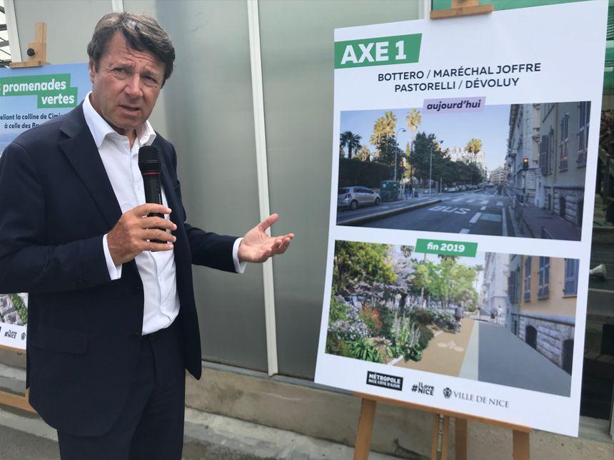 Le maire de Nice Christian Estrosi présente les transformations à venir.
