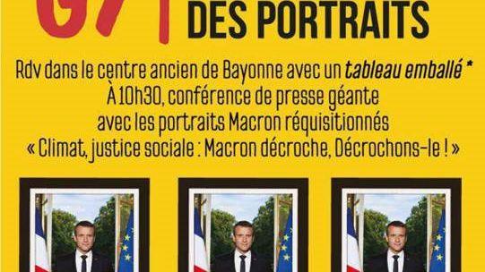 À l'occasion du G7 à Biarritz, des portraits du président Macron réquisitionnés dans toute la France ressortiront au grand jour
