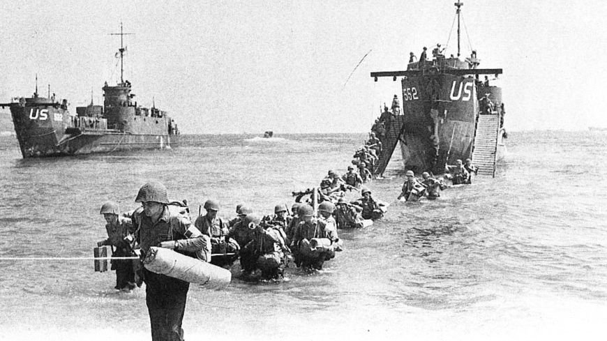 Débarquement des troupes alliées à Cavalaire-sur-Mer, le 15 août 1944