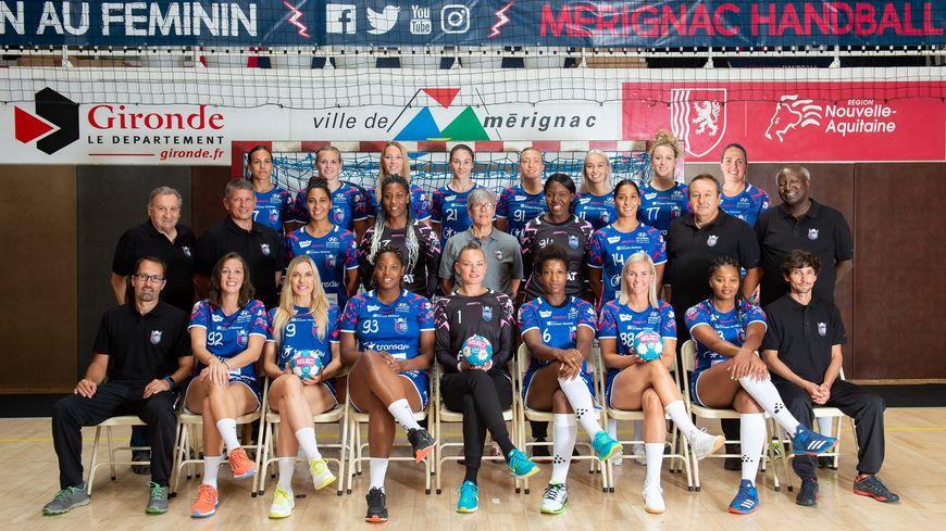 La photo officielle d'une saison qui marque le retour du Mérignac Handball dans l'élite.