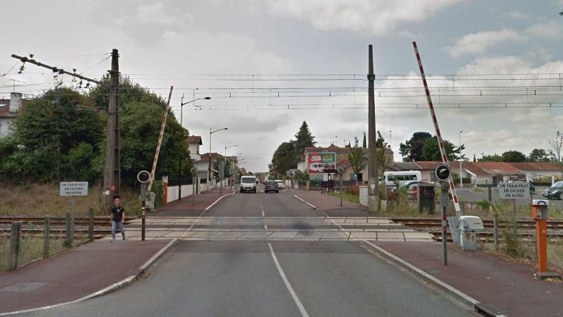 Le passage à niveau route de Tercis, à Dax.
