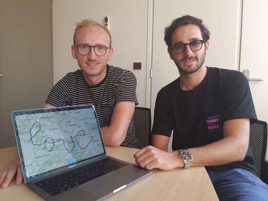 Nicolas Klein et Ugo Pellini espèrent battre le record mondial du plus grand GPS drawing