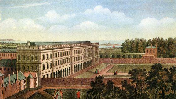 Le Trinity College de Dublin aux alentours de 1760.