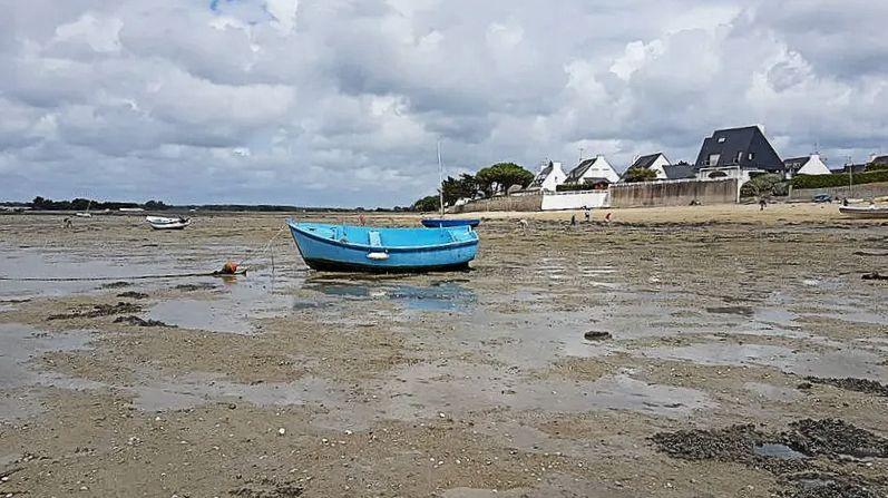 Le niveau de la mer monte comme ici à l'Île Tudy dans le sud Finistère