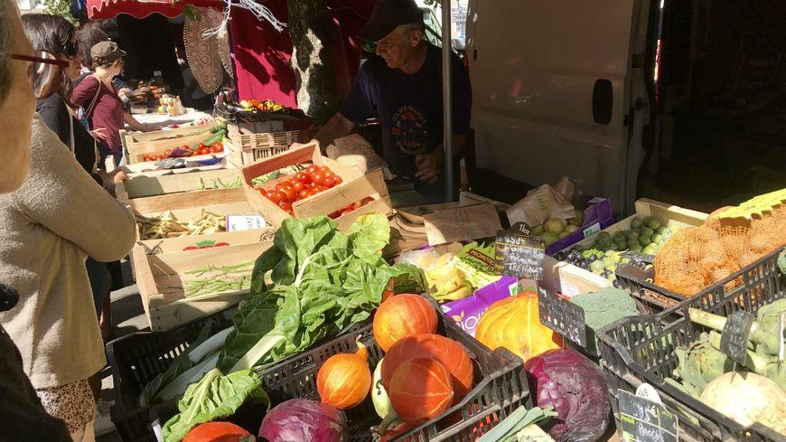 Au marché de Pont-l'Abbé, les prix des fruits et légumes bio sont bien inférieurs à ceux des grandes surfaces.