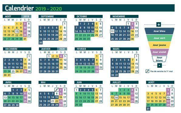 Calendrier Commercial 2019-2020 de la TAN