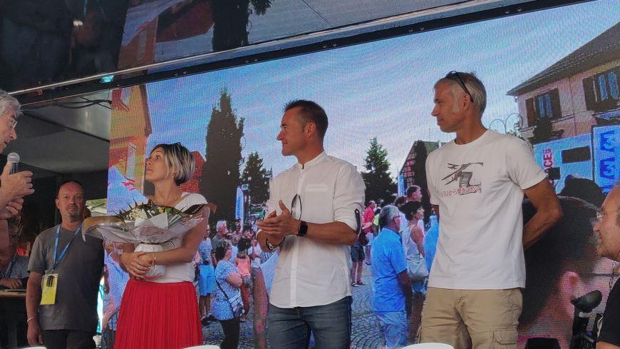 Au Tour d'Alsace, Thomas Voeckler a fait un discours lors de la cérémonie protocolaire