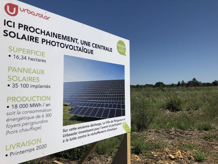 Quelques chiffres du projet de panneau de la centrale solaire photovoltaïque.