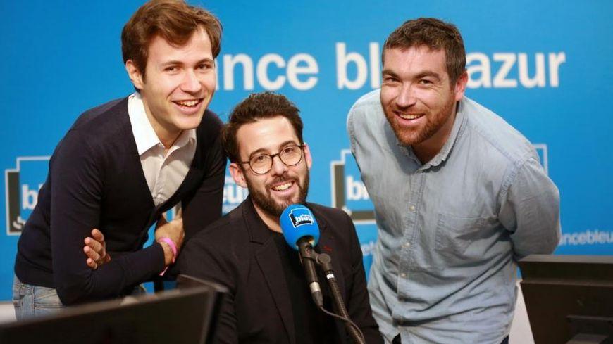 Fabien Fourel, Nicolas Mérou et Sébastien Germain dans France Bleu Azur Matin