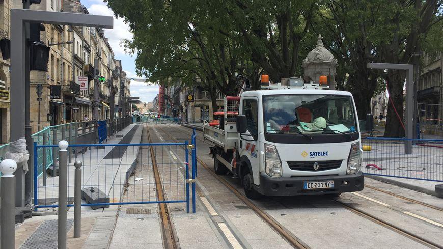 La rue Fondaudège, à Bordeaux, est en travaux depuis trois ans.