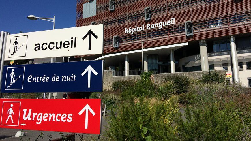 Façade de l'hôpital Rangueil à Toulouse