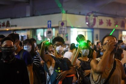 Manifestation à Hong Kong