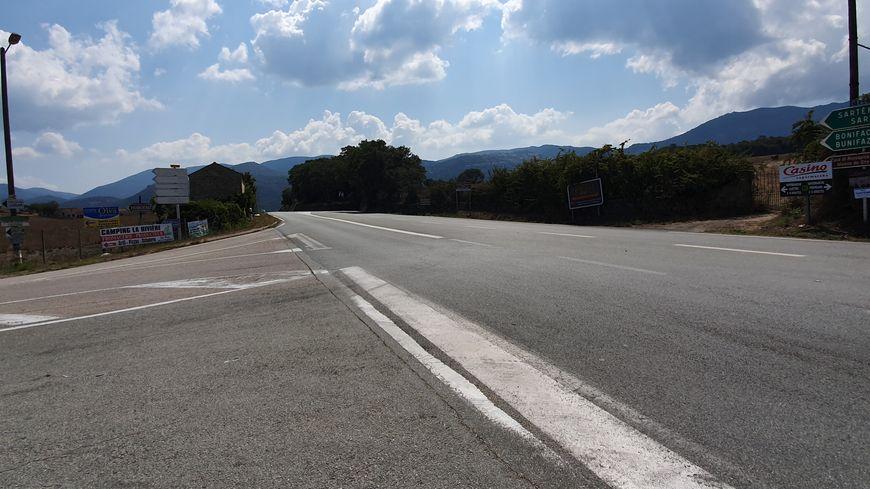 """L'embranchement en question, dit d' """"A Madunnina"""", permet de rejoindre Santa Lucia Di Tallà par la D268"""