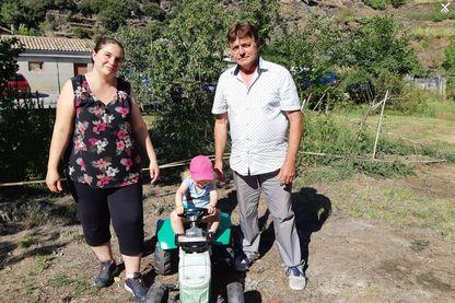 La famille Morel. En juillet, leurs deux garçons ont été surexposés à l'arsenic.