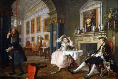 """""""Le tête à tête"""" de William Hogarth"""