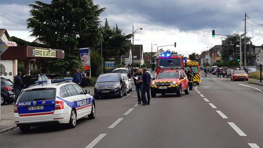 Les coups de feu ont été tirées vers 16h, rue de Guebwiller à Kingersheim.