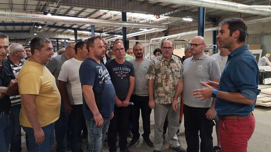 Les 44 salariés WN repris ont déjà visité les installation d'Ageco Agencement, leur nouvel employeur