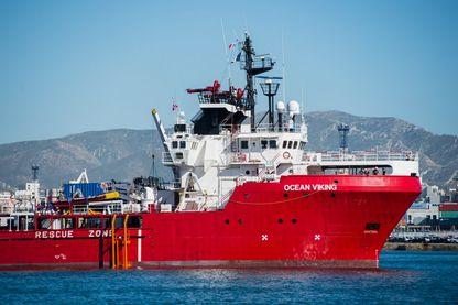 Le navire Ocean Viking porte secours au migrants pour SOS-Méditerranée et Médecins sans frontières, Marseille,  juillet 2019.