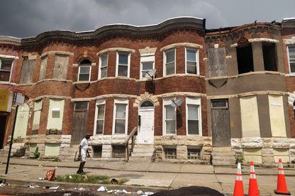 Le quartier de West Baltimore. La population, à grande majorité noire, est blessée par les propos de Trump considérés comme racistes