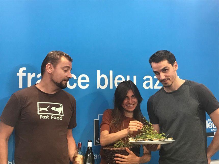 Yannick, Marine Lafon, Yann Grit, l'équipe de O Quoptidien, 2 rue Martin Seytour à Nice