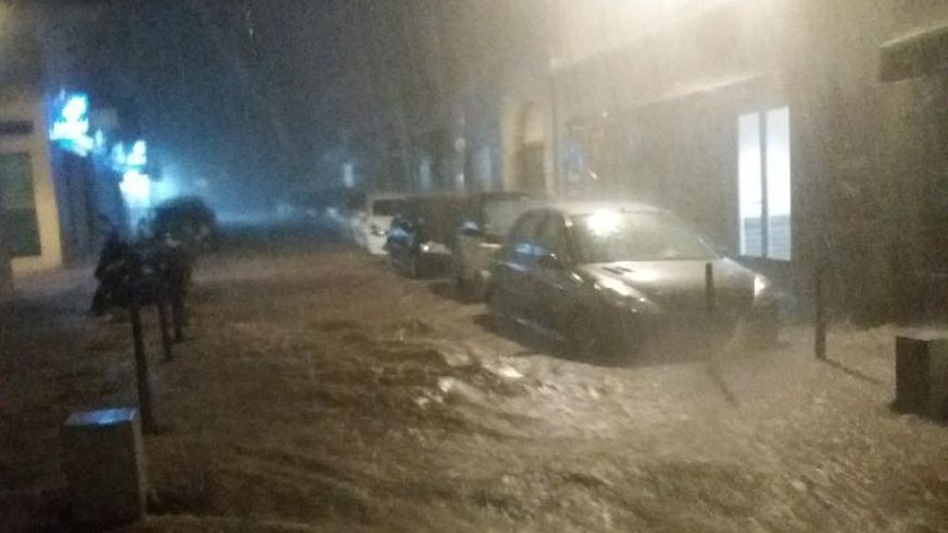 Les violents orages survenus au petit matin ont surpris les habitants de l'Ile-Rousse