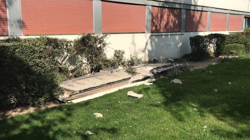 Personne n'a été blessé dans la chute du bloc de béton.