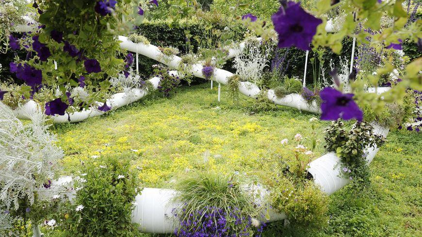 Jardin suspendu 2.0 au Festival des Jardins de Chaumont-sur-Loire