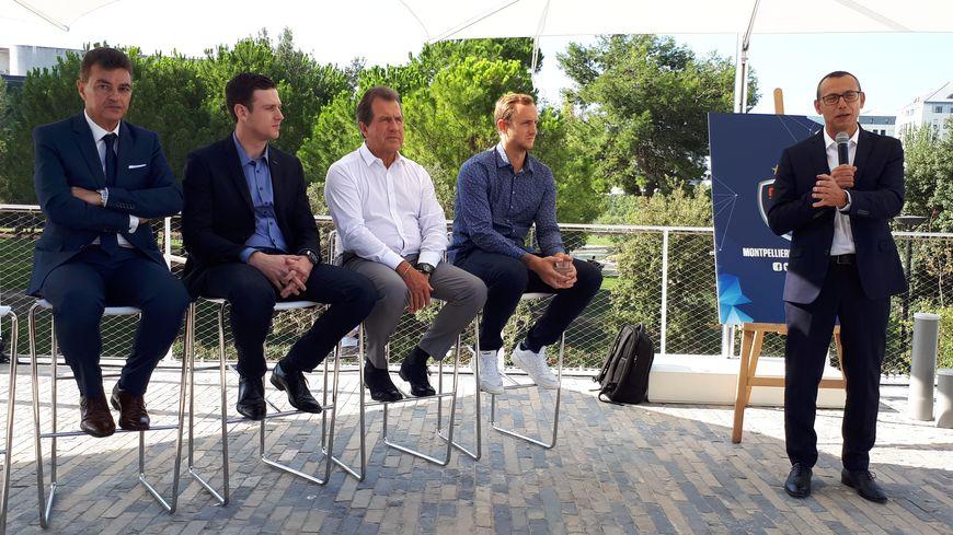De gauche à droite: Rémy Lévy, Julien Deljarry, André Deljarry, Valentin Porte et Patrice Canayer (debout)