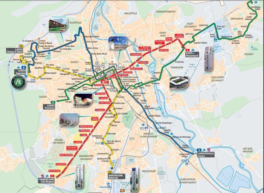 Le plan des lignes structurantes du futur réseau
