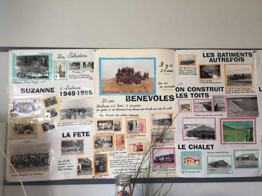 Un des murs du réfectoire retrace l'histoire du centre de vacances Danielle Casanova.