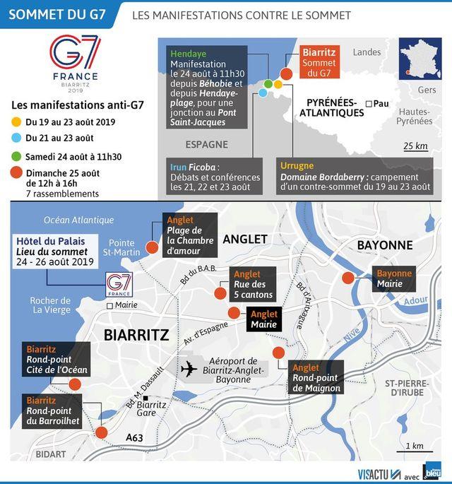 Des manifestations anti-G7 sont prévues en marge de l'événement.