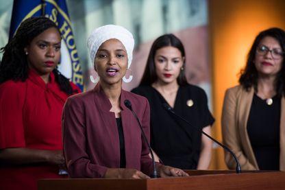 Ilhan Omar, D-Minn., Alexandria Ocasio-Cortez, et Rashida Tlaib en juillet 2019