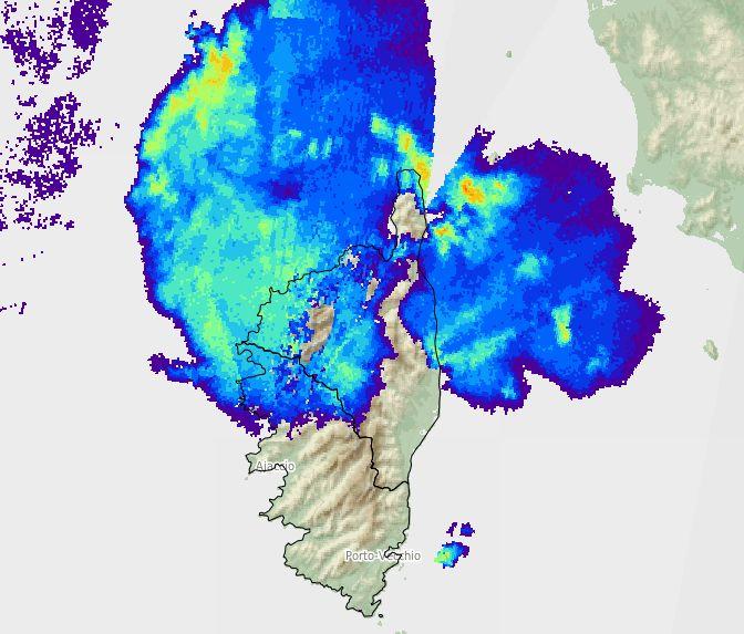 Les orages ont été importants, notamment sur la façade ouest de la Ciorse
