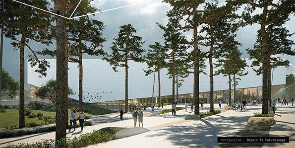 L'Arena Futuroscope offrira un design épuré et moderne à l'image du parc
