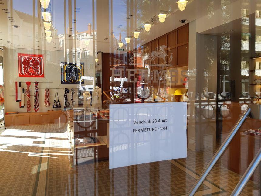 Un commerce de Biarritz a préféré fermer carrément dès vendredi