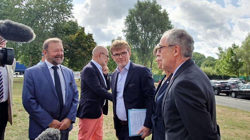 Marc Fesneau en visite en Dordogne le 12 août 2019