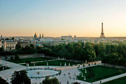 Prise de vue aérienne du jardin des Tuileries à Paris