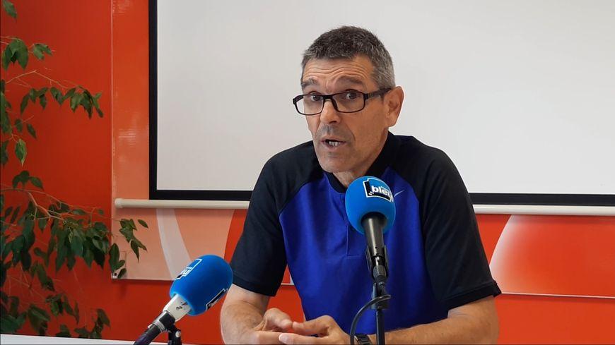 Jean-Louis Garcia, l'entraîneur de l'AS Nancy Lorraine, le 29 août 2019